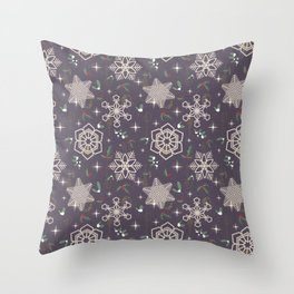 Xmas In The City Throw Pillow