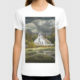 Old Mission Point Lighthouse in Early Autumn T-shirt