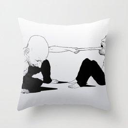 sore loser Throw Pillow