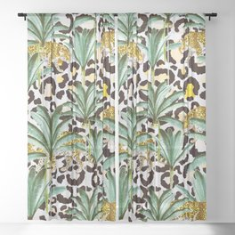 Jungle prowl Sheer Curtain