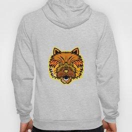Norwich Terrier Mascot Front Hoody