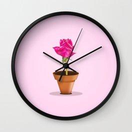 Little Pink Rose Wall Clock