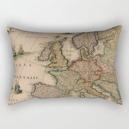 Antique Map Design Rectangular Pillow