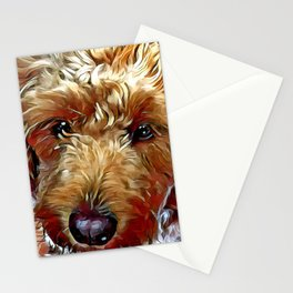Goldendoodle Puppy Stationery Cards
