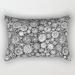 of flowers and planets Rectangular Pillow