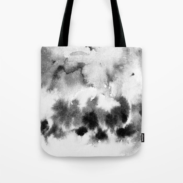 MINIMAL BLACK AND WHITE SPLATTER PATTERN Tote Bag