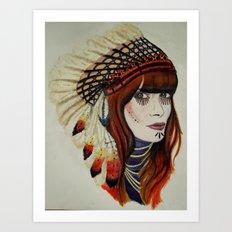 I wanna be an indian Art Print