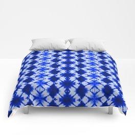 indigo shibori print Comforters