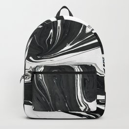 Black ink marble Backpack
