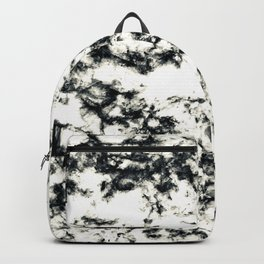 Epic Black and White Harlequin Marble Pattern Backpack