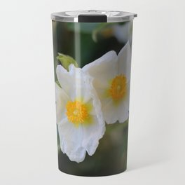 White Malva Travel Mug