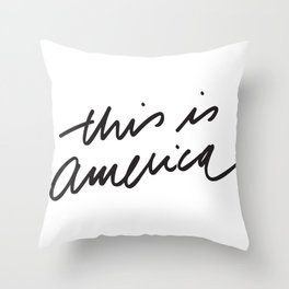 This is America Throw Pillow
