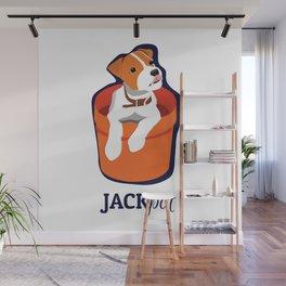 """""""Jackpot: Jack RussellTerrier Pop Art Puppy Wall Mural"""