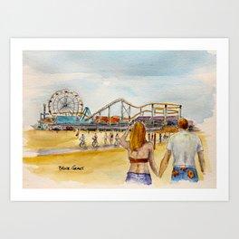 Santa Monica Pier Ferriswheel Art Print