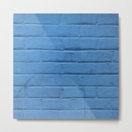 Urban Brick - Blue Jazz Metal Print