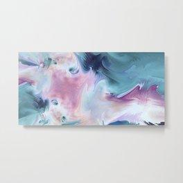 Abstract Art- Watercolor Art- Fractal Art- Blue Art- Ocean- Water- Marann Metal Print