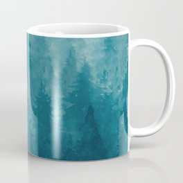 Misty Pine Forest Coffee Mug