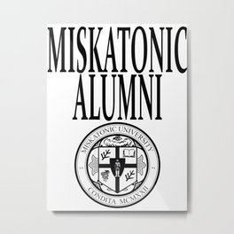 Miskatonic University Alumni Metal Print