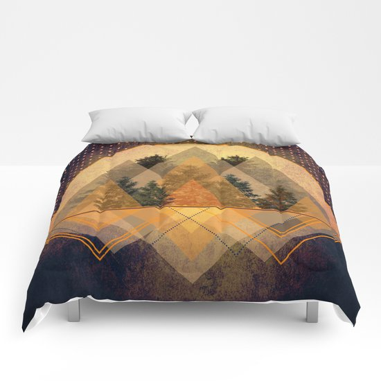 try again tree-angles mountains Comforters