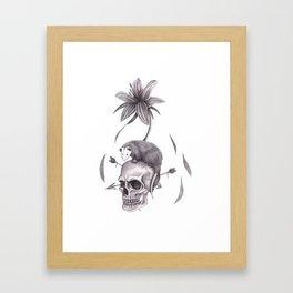 Spring Emergence in White Framed Art Print