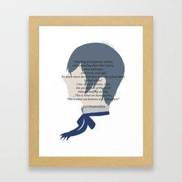 Ciel Phantomhive Quote Framed Art Print