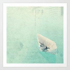 The boat Art Print