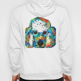 Colorful Poodle Dog Art by Sharon Cummings Hoody
