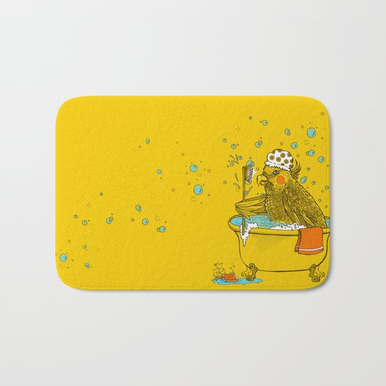 Bird Bath! Bath Mat