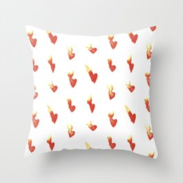 Hearts on Fire Throw Pillow