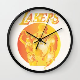 Lakers Wall Clock