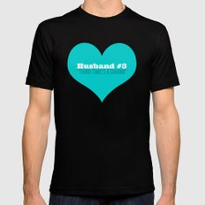 Husband #3 - Third Time's A Charm MEDIUM Black Mens Fitted Tee