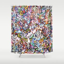 """""""Silliness"""" by RenPenCreations Shower Curtain"""