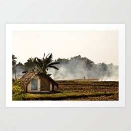 Hot hut Art Print