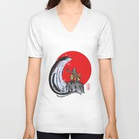 aang V-neck T-shirts featuring Aang in the Avatar State by Tom Ledin