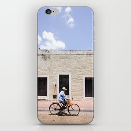 Riding a Bike in Merida, Mexico iPhone Skin