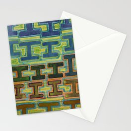 I-Beams Pattern  Stationery Cards