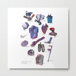 survival kit for human beings Metal Print