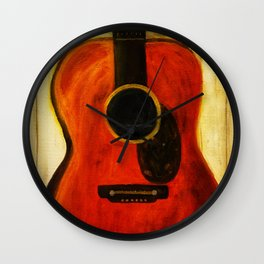 Tex's Guitar Wall Clock