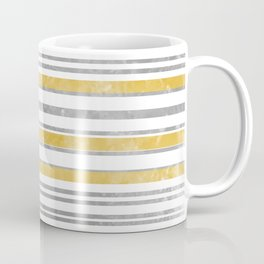 Sun Kissed Stripes: Silver and Gold Coffee Mug