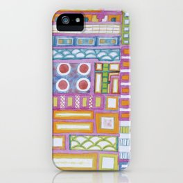 Filled Pink Grid iPhone Case