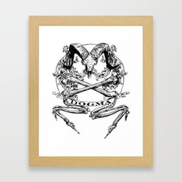Believe the Dogma - Jolly Roger Framed Art Print
