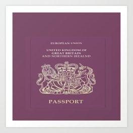 UK Passport  Art Print