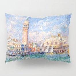"""Auguste Renoir """"Vue de Venise (Le Palais des Doges)"""" Pillow Sham"""