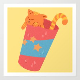 Soda Cat Art Print