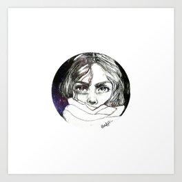Hiding in space Art Print