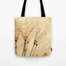 droplets of liquid gold Tote Bag