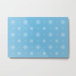 Snowflakes pattern Metal Print