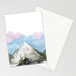 the montain Stationery Cards