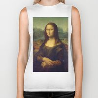 mona lisa Biker Tanks featuring Mona Lisa by TilenHrovatic