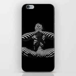 1195-MAC Abstract Nude Black & White Zebra Striped Woman Topographic Feminine Body iPhone Skin
